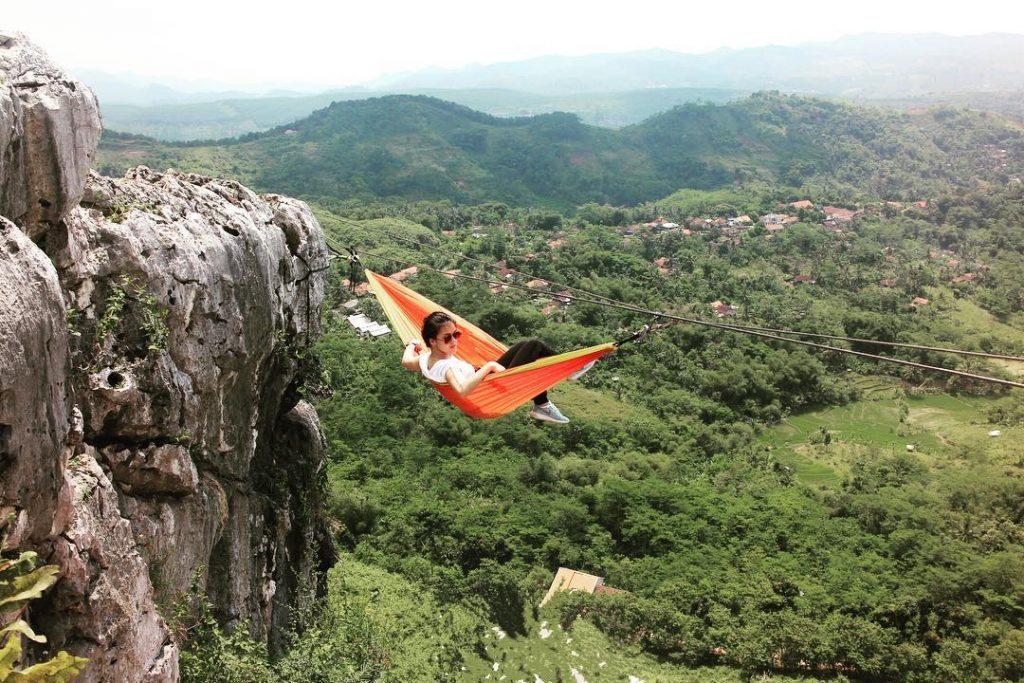 hammock tebing gunung hawu bandung