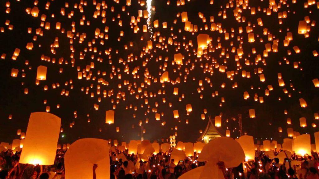 Festival Lampion di Candi Borobudur