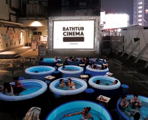 Menikmati Sensasi Bathub Cinema Di Jepang