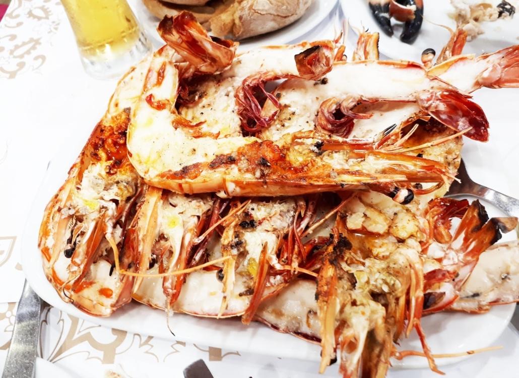 Giant king prawns CERVEJARIA RAMIRO