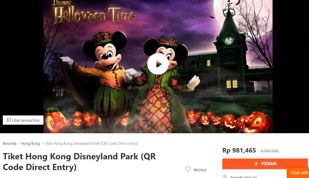 Pesan Tiket Online Disneyland Hongkong
